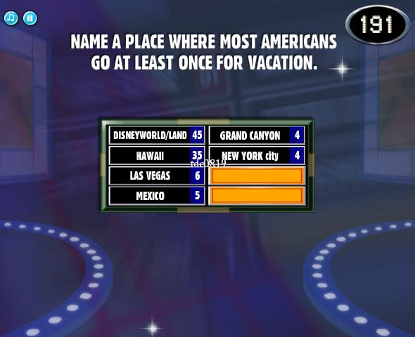 facebook family feud name a place where most americans go at least